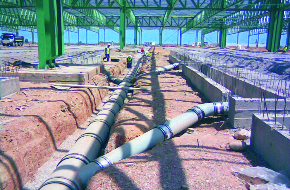 Naylor International - Thermachem Pipe installation