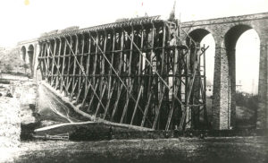 Viaduct with original wooden viaduct