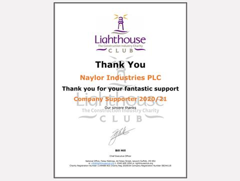 Lighthouse Certificate
