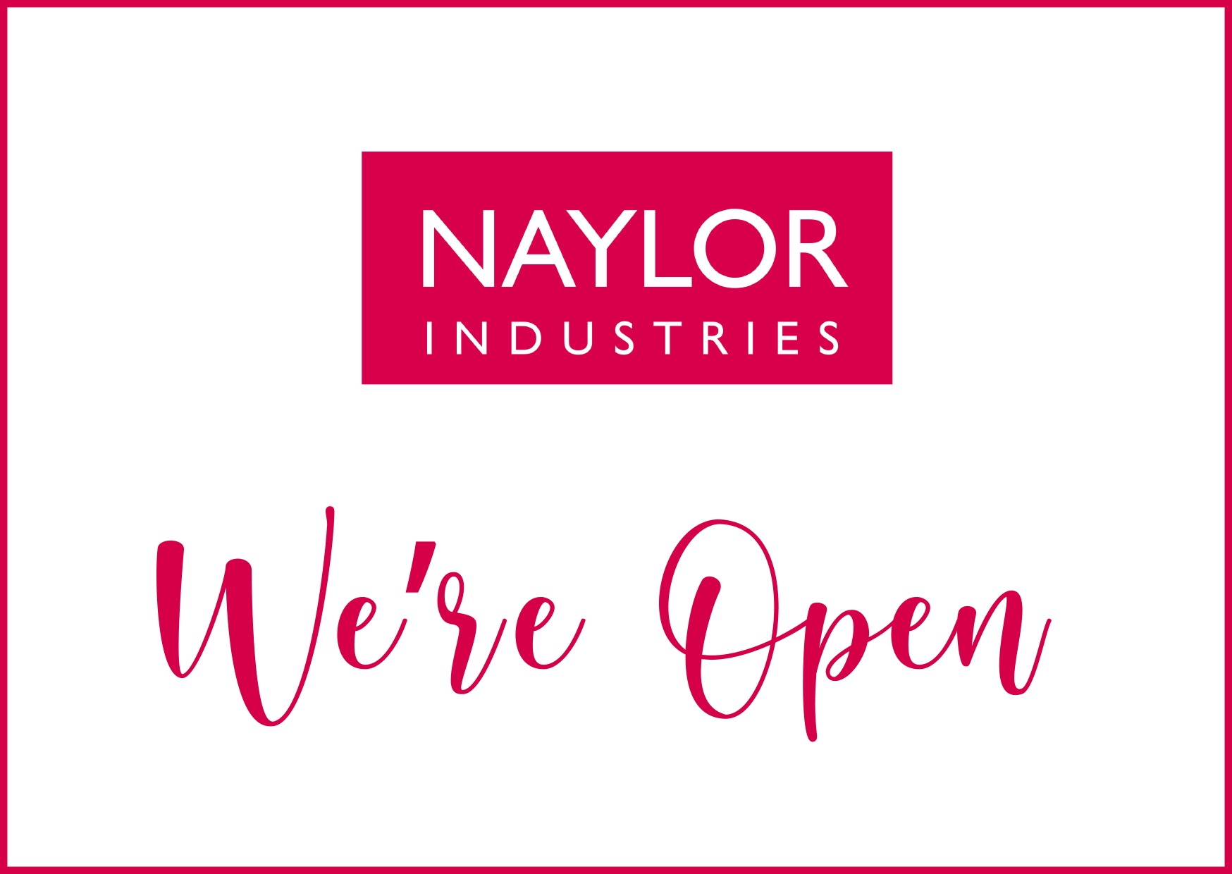 Naylor - We're Open