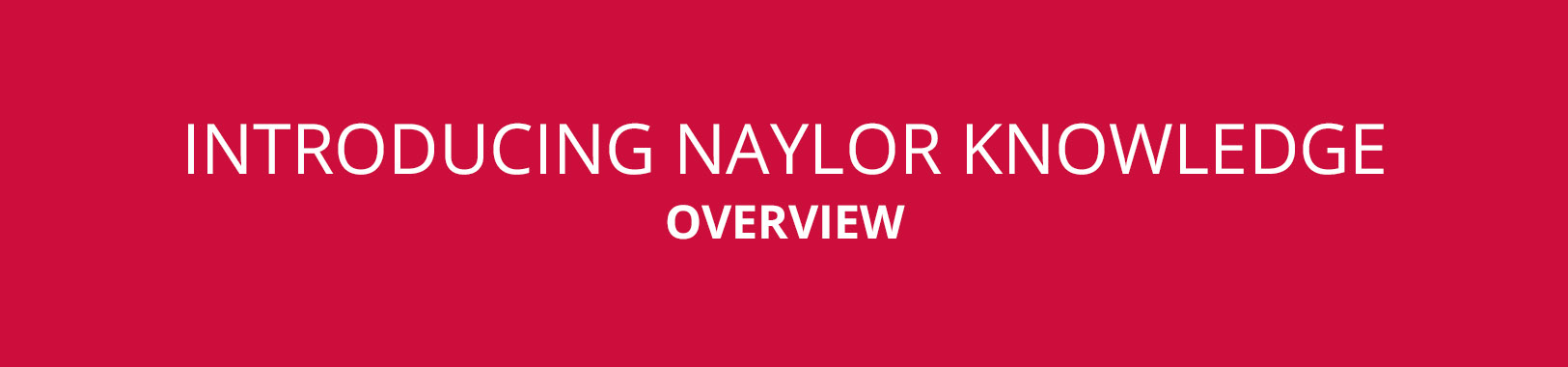 NAYLOR KNOWLEDGE BANNER